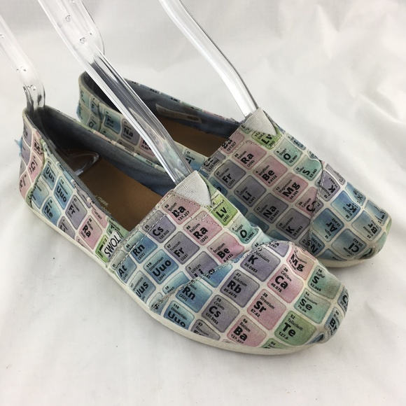 Toms Shoes Classics Flats Periodic Table Chemistry Poshmark